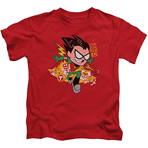 Teen Titans Go - Youth Robin T-Shirt Red