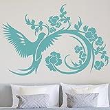 Bilderwelten Wandtattoo Ranke Flügelschlag, Sticker Wandtattoos Wandsticker Wandbild, Farbe: Schwarz, Größe: 80cm x 120cm