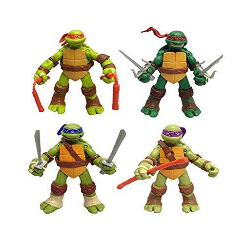 Teenage Mutant Ninja Turtles Kinder Spiele - 4 STÜCKE 12 cm / 4,7