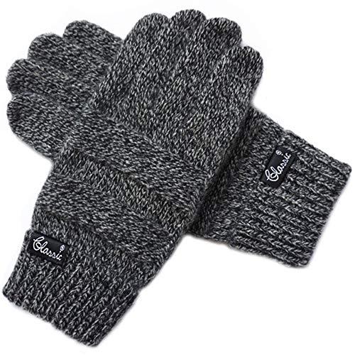zyyaxky Handschuhe Herren Wollhandschuhe Halten Warme Touch Screen Touch