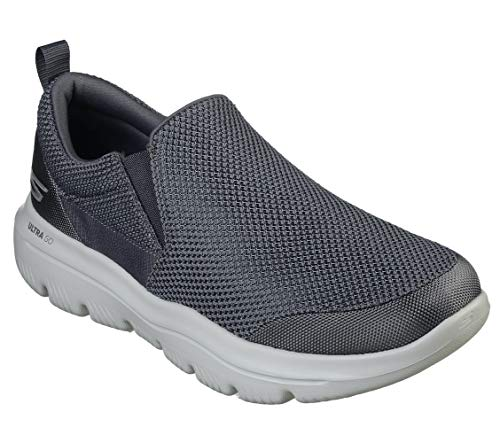 Skechers Men's Go Walk Evolution Ultra-impec Slip On Trainers, Grey (Charcoal Textile Charcoal), 7.5 UK (42 EU)