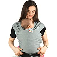 Baby Carrier Slings Infant Wrap - Premium Cotton Original Multiple Positions Soft and Lightweight Sling for Newborn Infants from Birth Natural Grey
