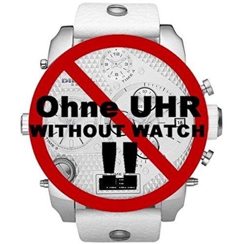 Diesel-weiße Leder (Diesel Uhrenarmband LB- DZ7194 Original Ersatzband D7 7194 Leder 28 mm)