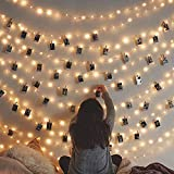 Cookey 40 LED Photo Clip String Lights. Lighting Display, Party Room Decorations, Peg Lights For Photos, Fairy Clip, Room, Students, Uni Presents, Hanging Bedroom, Christmas Living Pegs and String.