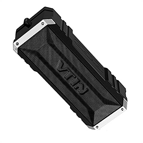 VTIN Punker Enceinte Portables Bluetooth V4.0 sans fil Étanche Haut-Parleur Bluetooth Stéréo 20W, 25 heures d