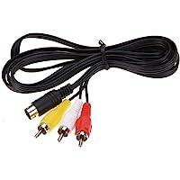 RUITROLIKER 6ft Audio Vidéo AV Câble 9Pin RCA pour Genesis 2 3