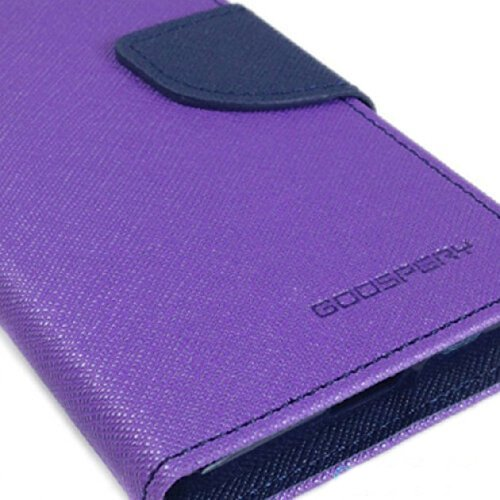 BRAND FUSON Mercury Goospery Fancy Diary Wallet Flip Cover for MOTOROLA MOTO-E , (1st GEN) PURPLE