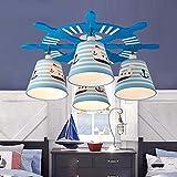 FGSGZ Kinderzimmer Led Deckenleuchten Cartoon Navigationslichter Persönlichkeit Und Das Schlafzimmer Licht Ruder 60 * 25Cm