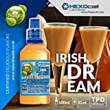 E LIQUID PARA VAPEAR - 30ml Irish Dream (Bailey's Irish Cream) Shake n Vape Liquido para Cigarrillo Electronico, Shake and Vape E-Liquido sin Nicotina