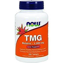 Now Foods, TMG (Trimethylglycine), 1,000 mg, 100 Tablets