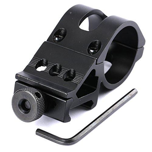 Dophee 30mm Taschenlampen Laser Gewehr Schienen 20mm Klemmring Schienen Zielfernrohrmontagen fuer Taschenlampe (Rail-taschenlampe)