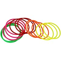 "JTDEAL 15PCS Toss Rings Plastic Multicolor Activity Rings 5.71"" Diameter Kids Rings for Children Party School Festival Outdoor Indoor Ring Toss Games Speed and Agility Training Games"