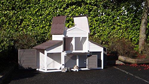 Animalhouseshop.de Kaninchenstall Annemieke mit Auslauf 175x70x110cm - 6