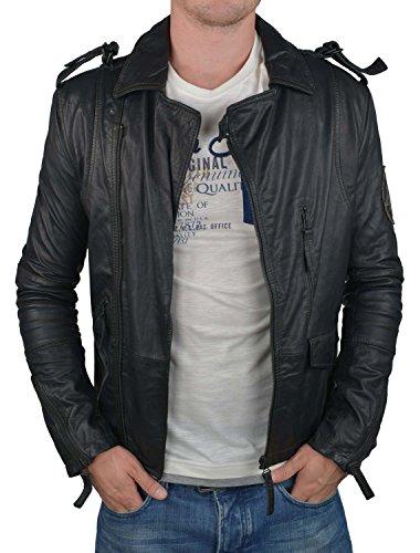 Wrangler Lederjacke schwarz, Größe:S
