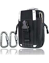 Sac de randonnée de camping en plein air 2 mousqueton sac d'escalade randonnée ceinture ceinture sac porte-monnaie sac à main porte-clés sac