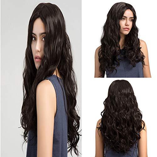Hermosa peluca rizada larga Resistente calor Peluca