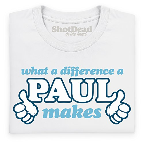 What A Difference A Paul Makes T-shirt, Uomo Bianco