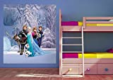 AG Design FTDxl 1939  Disney Frozen Die Eiskönigin, Papier Fototapete Kinderzimmer- 180x202 cm - 2 teile, Papier, multicolor, 0,1 x 180 x 202 cm