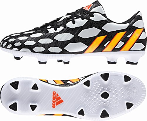 Predator Absolado Instinct FG WC - Chaussures de Foot Noir/Orange Fluo/Blanc white