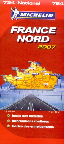 France Nord : 1/1 000 000 par Michelin