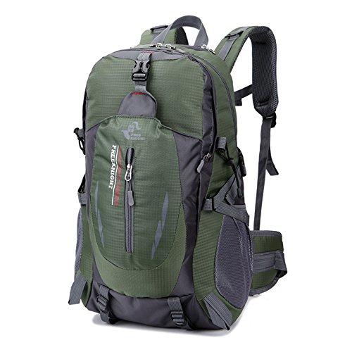 Red Taille un Nylon Freeknight 40L Grand sac à dos de camping et de randonnée Sac à dos de voyage Sac à dos décontracté Sac à dos pour camping randonnée cyclisme alpinisme Sport en extérieur