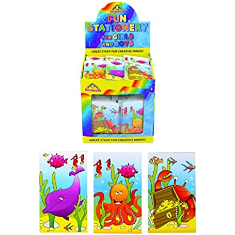 20 x Sealife mini notebook party bag fillers loot bag pocket money toy under the sea IDEAL FOR PARTY BAG FILLERS,LOOT BAGS,FATES,PARTYS by personalised party products