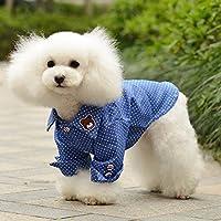 PerGrate - Ropa para perro, diseño de lunares de cachorro de gato pequeño, estampado vaquero, para disfraz de verano, talla grande