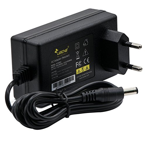 LEICKE Netzteil 12V 2,5A | 5,5*2,5mm Stecker | Ladegerät LCD TFT Monitor, AVM Fritzbox Speedport, Soundlink, Festplatten