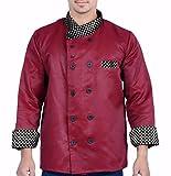 #6: Aurum Creations Men's Double Breasted Chef Coat (ac307_Maroon_42)