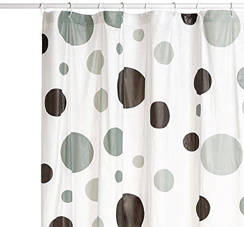 MSV 140846 Duschvorhang, PVA + Polypropylen/Kunststoff, 180x200x0,1cm, Weiß
