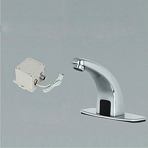 Robinet robinet chromé de luxe luxe matériel laiton robinet automatique du bassin Robinets Touchless sur robinets électroniques chauds et froids Crane ZR1021,AC et DC