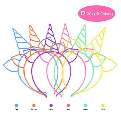 Einhorn-Party-Favors-Supplies-Frcolor-Einhorn-Stirnbnder-Temporre-Tattoos-fr-Kinder-Mdchen-Einhorn-Haargummis-Haarnadeln-fr-Cosplay-Party-Birthday-Party-Halloween-Weihnachten63-Stck