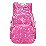 OOGUOSHENG Waterproof Children School Bags For Girls Princess School Backpacks Kids Printing School Backpack Schoolbag,Rose