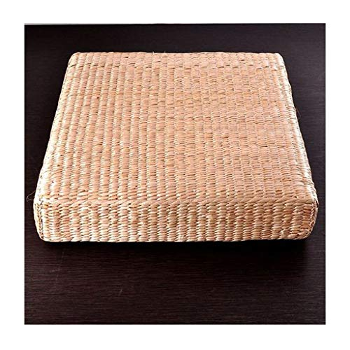 Ccf Stroh Futon Meditieren Pad Anbetung Buddha Pad Rattan Tatami Teezeremonie Kissen Verdickung Meditation Pad Zen Kissen (größe : 50×50×6cm) - Rattan-futon