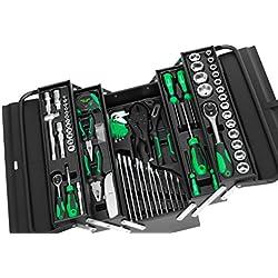 Black Green Edition Werkzeugkiste* Werkzeugkasten gefüllt mit Werkzeug - 72tlg. Werkzeug-Sortiment - Schwarz