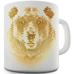 TWISTED ENVY Trenzado Envy Halftone oso taza de cerámica de la novedad regalo