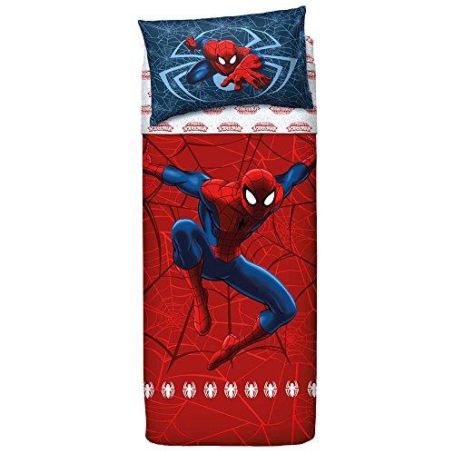 Bassetti 9286343 spider-man completo letto colore rosso singolo