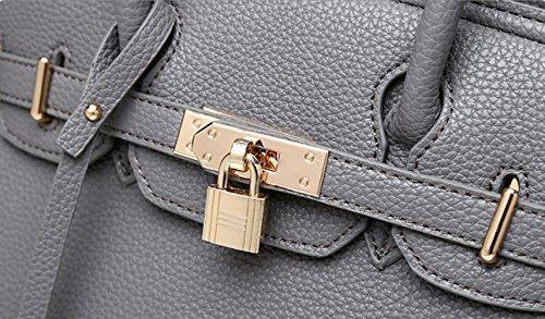 FZHLY 2017 Nuovo E Europea Della Serratura Di Moda Americano Shoulder Bag Messenger Per Le Donne,Black White