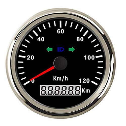 HH-Sensor Sensore Contachilometri GPS 85mm Contachilometri 120km / h Allarme di sovravelocità per Moto da Camion per Auto