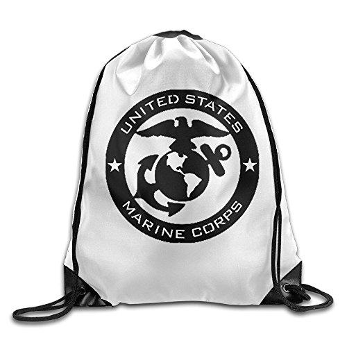 Marine Corps USMC Logo Kordelzug Rucksäcke/Taschen., weiß ()
