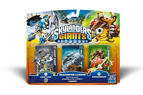 Skylanders: Giants - Battle Pack: Chop Chop, Shroomboom, Cannon Piece - Skylanders Ps3 Figuren