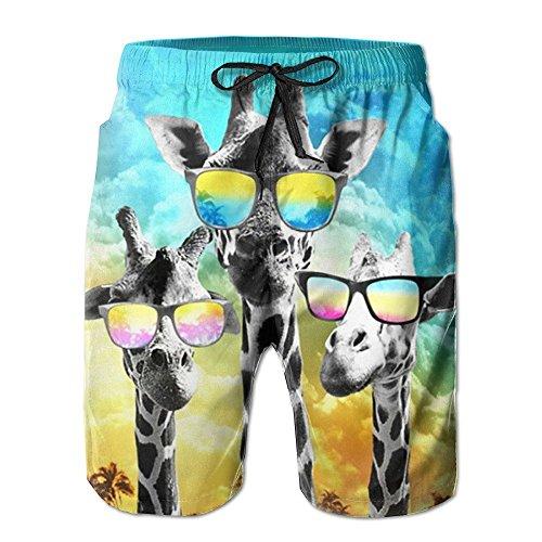 errenmode Surfbrett Beach Home Shorts Badehose Quick Dry mit Tasche ()