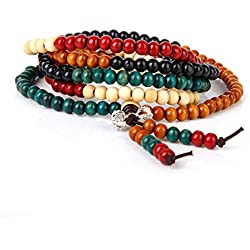 Collar Pulsera Budista Buda Sandalo Tibetano Dangle Colgante Buddhist Necklace