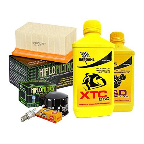 Tagliando Bardahl XTC 10W40 filtro olio aria candele cambio 75W90 R 1200 GS.