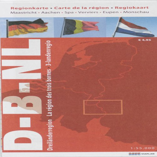 3-landenregiokaart 1:55.000 / druk ND: Maastricht-Aachen-Spa-Verviers-Eupen-Monschau