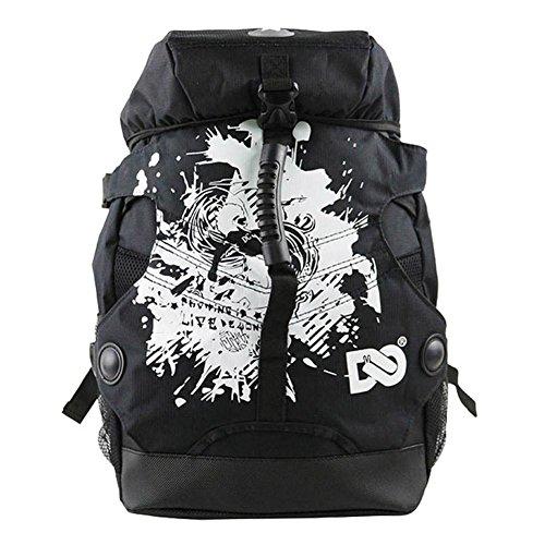 cloudwhisper 1800D Oxford Tuch Skating Rucksack für Inline Skates Tasche, schwarz (Skating Tasche)