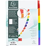 Exacompta 948230 Intercalaires Carte A4 6 positions avec onglets Blanc/Couleurs Assorties