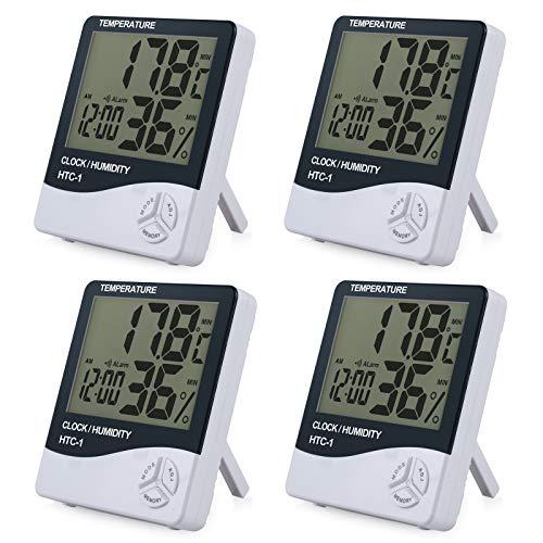 ESYNIC 4 Piezas Termómetro Higrómetro Digital Medidor de Humedad y Temperatura...