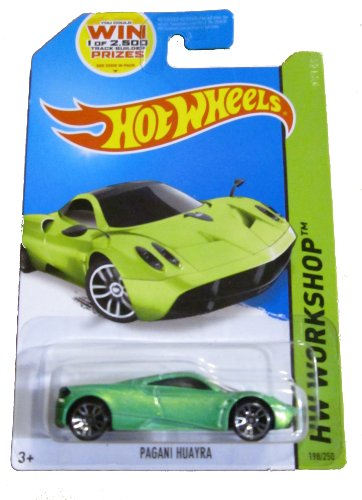 Hot Wheels 2014 Hw Workshop All Stars Green Pagani Huayra 198/250 Code Car by Hot Wheels