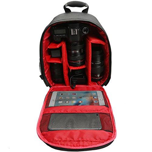 Sukisuki Outdoor Wasserdicht Kamera Rucksack Digital DSLR-Schulter-Tasche für Canon Nikon Rot Compact Camera Case